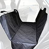 Pet Car Seat Cover - Hammock Style Seat Cover for Pet Dog Cat - Waterproof Car Bench Seat Cover With Net Vehicle Pet Barrier - Seat Anchors for Cars - Trucks - Suv-Black - Scratch Proof & NonSlip Backing