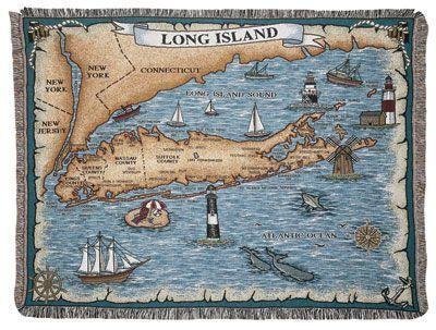 (Simply Home Long Island New York Tapestry Throw Blanket 50