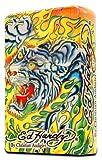 Ed Hardy Jumbo Oil Lighter Cigarette Cigar Oversized, Tatto Artist Christian Audigier Flint Flip Top Refillable (Snake) Qty 1
