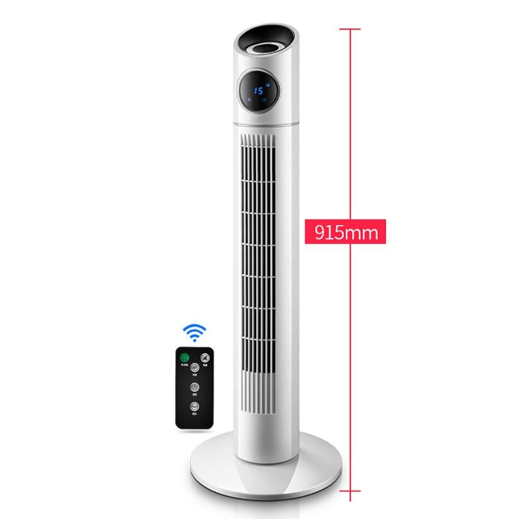 立っている冷却ファン、家庭用ブレードレスサイレントタワーファンホワイト B07SZHCKG2