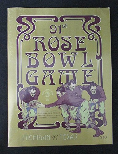 2005 Rose Bowl Official Program Michigan Wolverines vs Texas Longhorns 127486