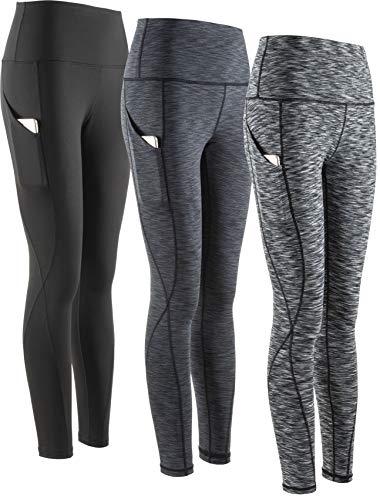 SERHOM Yoga Pants, High Waist Tummy Control Workout Women Yoga Leggings with Pockets XXL Pack of 3