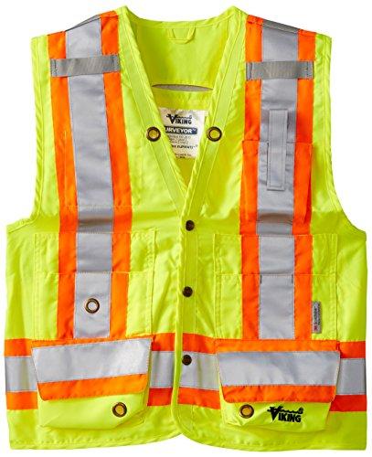 Viking Surveyor Hi-Vis Safety Vest, Green, XX-Large by Viking (Image #1)