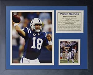 "Legends Never Die ""Peyton Manning Indianapolis Colts Home"" Framed Photo Collage, 11 x 14-Inch"
