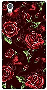The Racoon Grip printed designer hard back mobile phone case cover for Vivo Y51. (Maroon Ros)