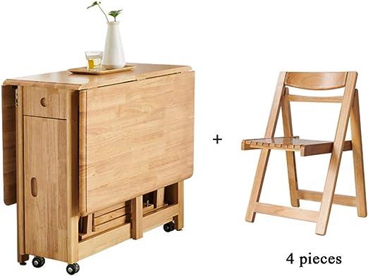 SjYsXm-table Moderna Mesa de Comedor Plegable para el hogar, Mesa ...