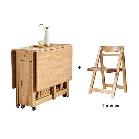SjYsXm-table Moderna Mesa de Comedor Plegable para el hogar ...