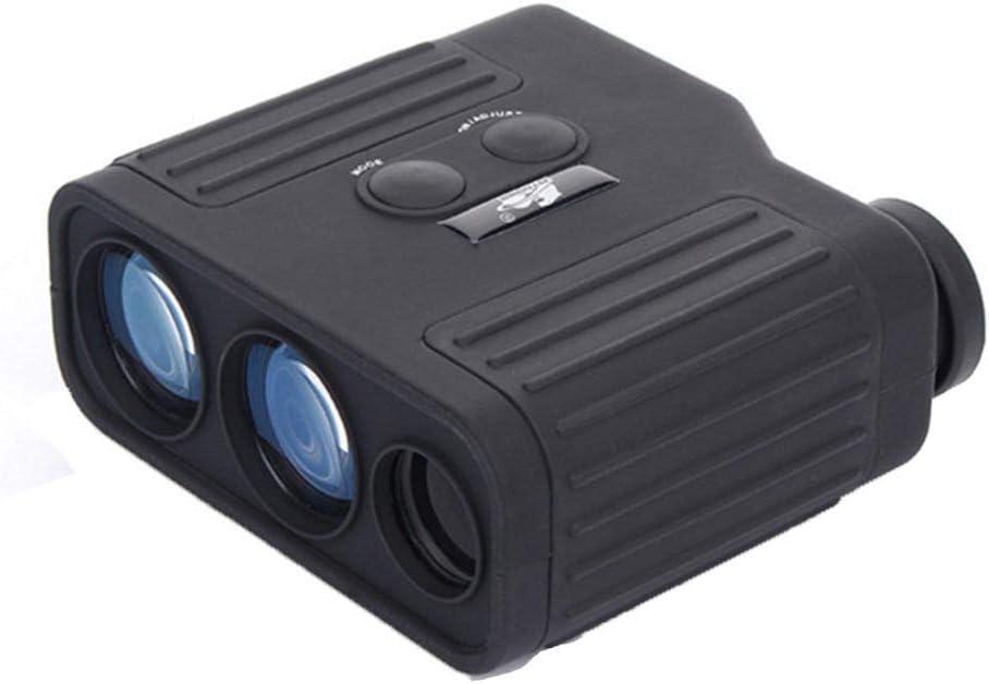 RENYAYA Telémetro, telémetro láser Golf, 1500 Metros precisión es de +/- 1 Metro, 8 Veces óptico Resistencia y la interferencia Resistencia a la caída de la Lente, Adecuado para la miopía,Negro