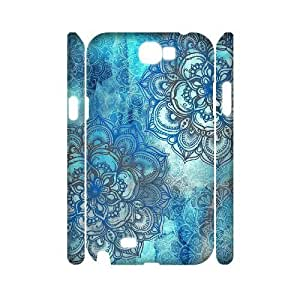 Teal Tribal Personalized 3D Cover Case for Samsung Galaxy Note 2 N7100,customized phone case ygtg615119