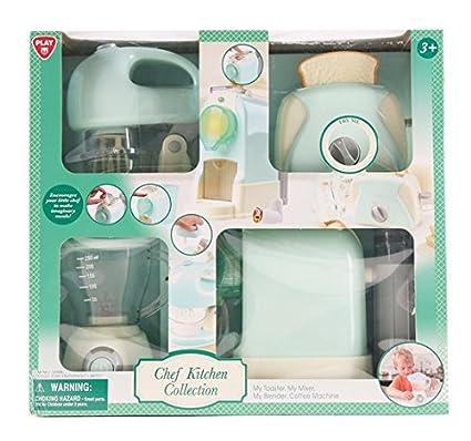 Amazon.com: PlayGo Toys Kitchen Play Set Toaster Mixer ...