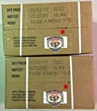 MRE 2020 Inspection Date Case, 24 Meals with 2020 Inspection Date, 2017 Pack Date A and B Case. Military Surplus Meal Ready to Eat.