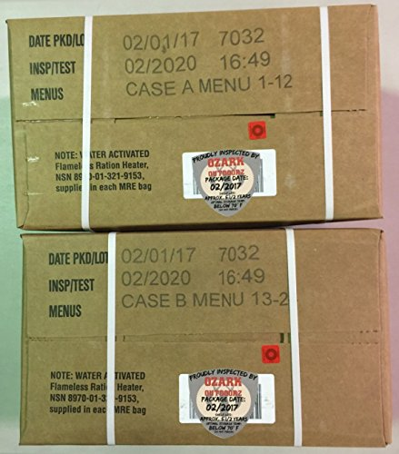 MRE 2020 Inspection Date Case, 24 Meals with 2020 Inspection Date, 2017 Pack Date A and B Case. Military Surplus Meal Ready to Eat. by Ozark Outdoorz, LLC (Image #5)