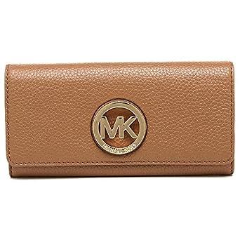 bd80b770a Michael Kors 35F0GFTE1L Leather MK Gold Logo Fulton Flap Continental ...