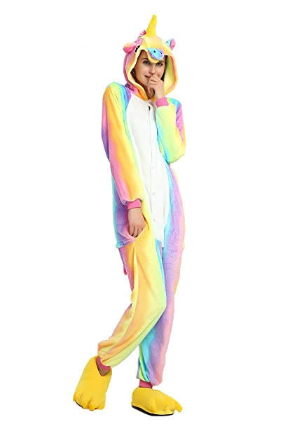Magical Unicorn Onesie Pajamas for Christmas Costume and Sleepwear (X-Large, Rainbow)