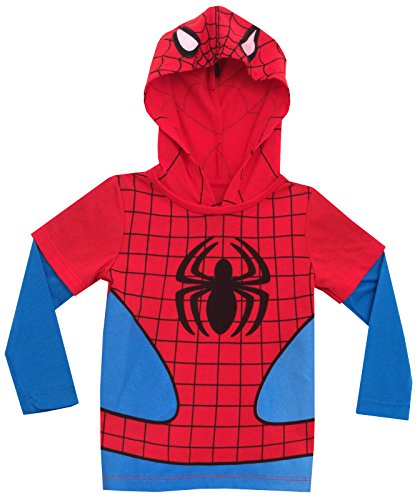 Spiderman Marvel Comics Mighty Fine Toddler Hooded Long-Sleeve T-Shirt Tee