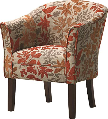 Upholstered Accent Chair Multi Color And Cappuccino