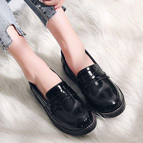 Melady Mujer Zapatos black Brogue Clasico 2 rvqzrw