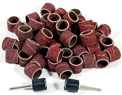 Assorted Band (100pc Assorted Rotary Tool Sanding Bands 1/2