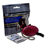 Minder 25 Bulk Pack Loud Mini Keyring Keychain Personal Staff Panic Rape Attack Safety Security Alarm with Flashlight 140db - Secured by Design Approved (UK Police Preferred Specification) (Pink)