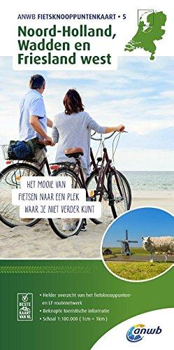 Noord-Holland, Wadden & Friesland West bicycle junction maps (ANWB Fietsknooppuntenkaart (5))