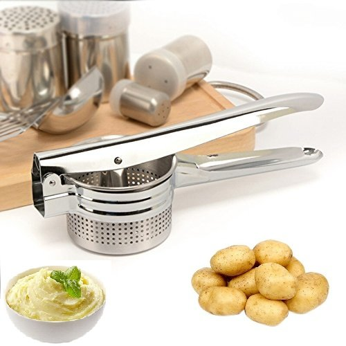 Hand Press Potato Ricer,Masher or Boiled Egg, Orange or Lime Lemon Juicer-(100% Stainless Steel) by Tiger Eyes by Tiger Eyes