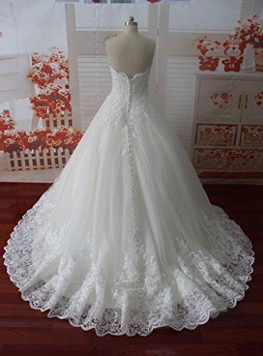 Sposa Di Abito Da Ballo Fidanzata Dressylady Applique Sposa Bianco Da Modesto Da Tulle Di Abito xHZPZ0W
