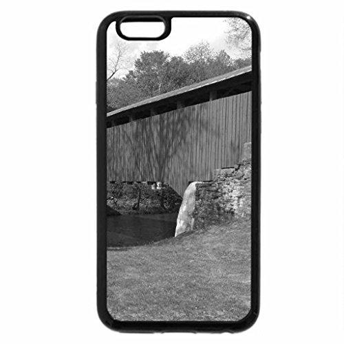 iPhone 6S Plus Case, iPhone 6 Plus Case (Black & White) - Green Covered Bridge