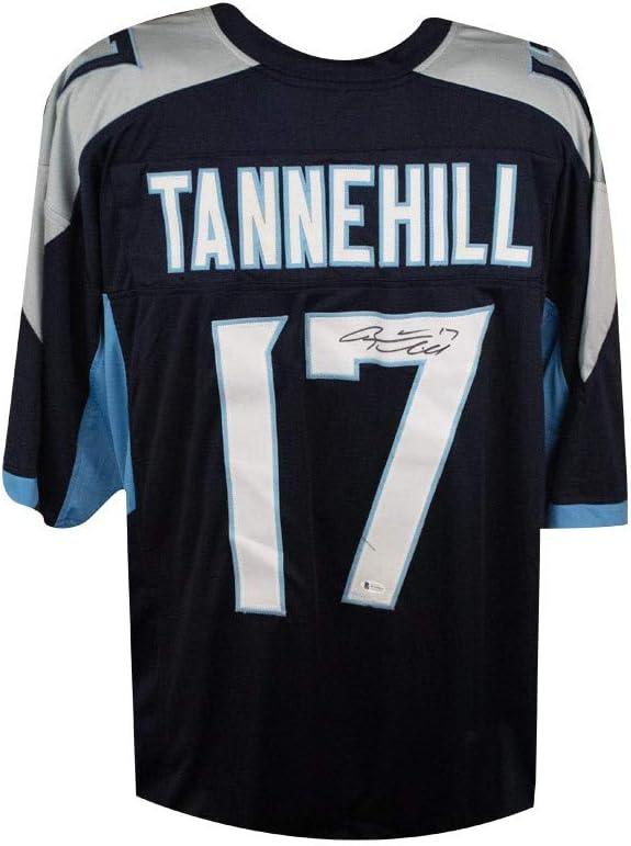 Ryan Tannehill Autographed Tennessee Titans Custom Football Jersey - BAS COA