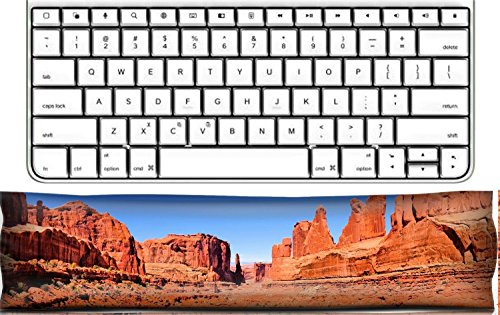 Luxlady Keyboard Wrist Rest Pad Office Decor Wrist Supporter Pillow Arches National Park USA panoramic view of Avenue IMAGE ID 26063396 - Park Avenue Pillow