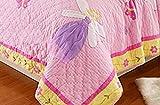 100% Cotton Bedspread Set Pink Butterfly