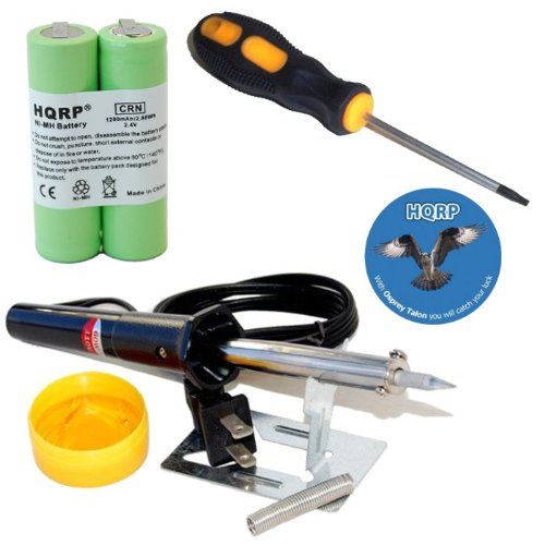 HQRP Battery fits Philips Norelco 7737X 7745X 7775X 7825XL 7845XL 7864XL Razor/Shaver plus Screwdriver, Soldering Iron and Coaster 884667406261215