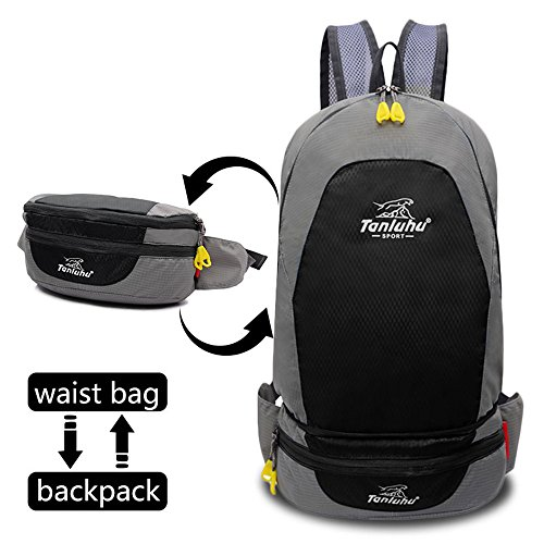 LGC Products foldable backpack Lightweight-Packable Backpack,Waist Bag-Pack,Handy Foldable Hiking Daypack is Suitable for Run,Camping, Cycling, Outdoor-Sport (Day Hike Fanny Pack)