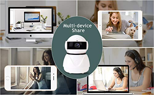 Security Camera Wireless IP Camera 1080P HD WiFi Home Surveillance Video IP Camera with Alexa Echo Pan/Tilt Two -Way Audio Night Vision for Pet Elder Baby Nanny Home Office Monitor by Lstiaq (Image #6)