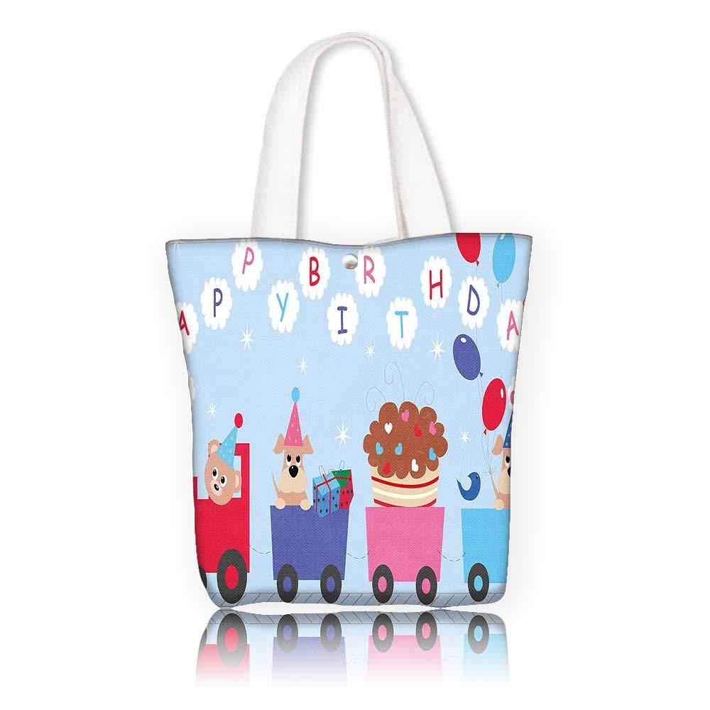 キャンバス ビーチバッグ - W11 x H11 x D3 インチ/ショッピング旅行 トートバッグ 誕生日デコレーション 子供の赤ちゃん 女の子 誕生日 テディベア付き バルーンボックス 人形の画像 ライトピンク W22 x H15.7 x D7 INCH W22 x H15.7 x D7 INCH カラー5 B07K2ZZMLY