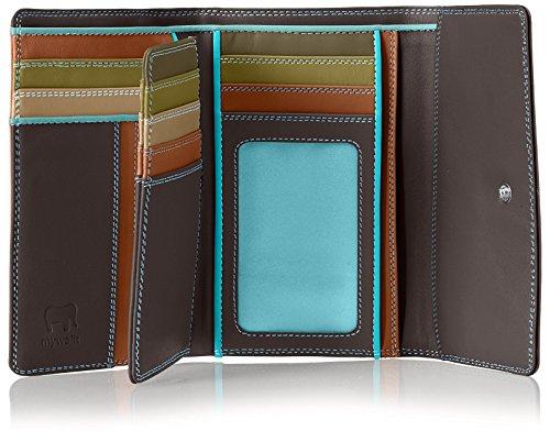 mywalit Portafoglio Tri-Fold Purse W/Inner Flap Cioccolato Unica