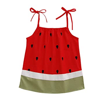 Baby Girls Dress Watermelon Sleeveless Sundress Infant Princess Summer Dress