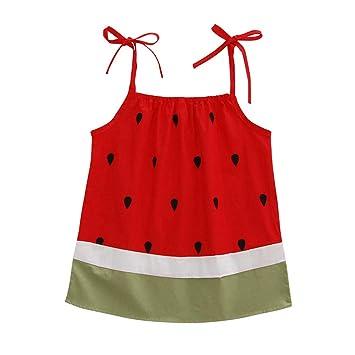 dd688bb2018 Newborn Infant Baby Girls Dresses Cuekondy Plum Flower Watermelon Cartoon  Print Bowknot Party Princess Sundress Skirt