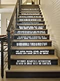 DW Quote Set [WHITE] Large Vinyl Wall Stairs Decal by GMDdecals ONEliners Collection 24'' x 2-4'' EACH QUOTE Dr Doctor Inspired Who Décor