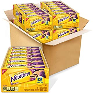 Newtons Soft & Fruit Chewy Fig Cookies, 4 Trays of 12 Packs (2 Cookies Per Pack)