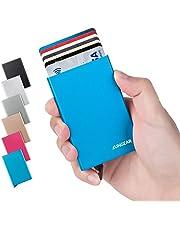LunGear Tarjetero para Tarjeta de Crédito RFID Bloqueo,Delgado Cartera de Aluminio Mini Billetera de