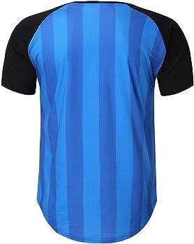 SoonerQuicker Camisas de Hombre T Shirt tee Moda Casual para Hombre de Verano, Cuello Corto, Cuello Redondo, Camiseta de Fitness, Top Blusa(Azul M): Amazon.es: Ropa y accesorios