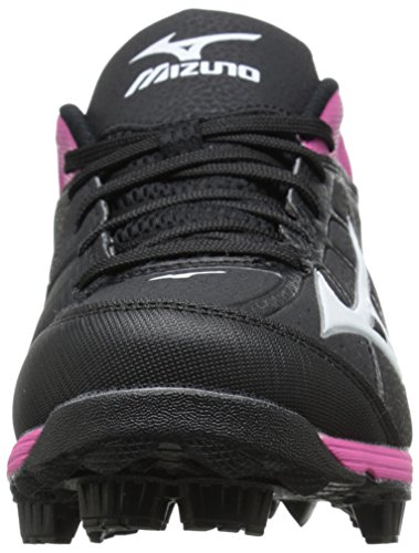 Mizuno Womens 9 Spike ADV Finch 6 Fast Pitch Molded Softball Cleat Black/Pink 8XsxzocpGC