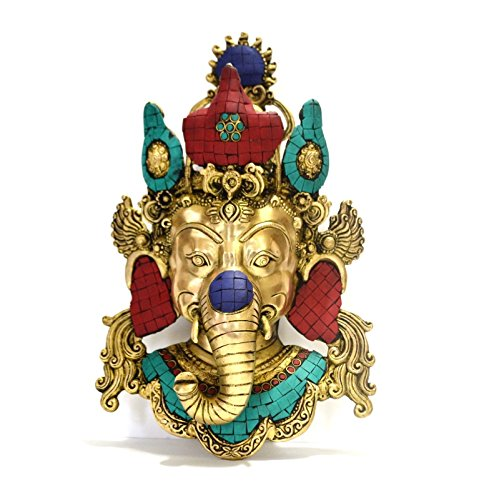Spiritual Large Wall Sculpture Lord Ganesha Wall Hanging Mask