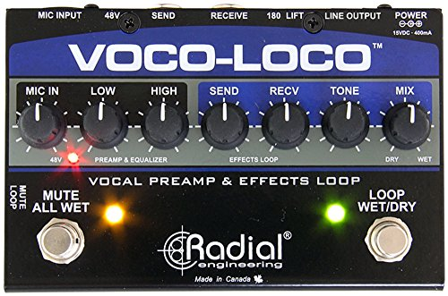 Radial Voco Loco Microphone Effects Loop & Switcher for Guitar Effects by Radial