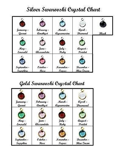 Swarovski Crystal Channel Drop Add-On - DII QQQ - Extra Charm - Additional Birthstone - Add Color - Silver Gold Month