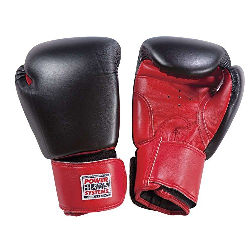 Power Systems PowerForce Boxing Gloves, 12 Ounces, 2-Pack, Red/Black (88202) by Power Systems