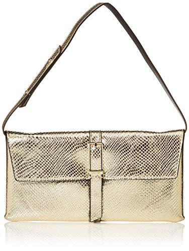 Calvin Klein - Winged Shoulder Bag, Bolsos bandolera Mujer, Dorado (Champagne), 2.5x16.5x31 cm (W x H L)