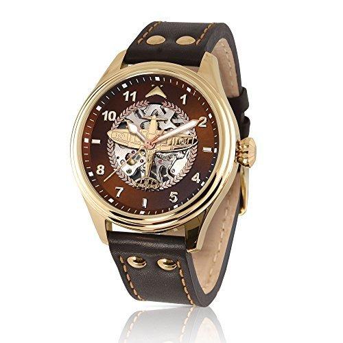 The Bradford Exchange - 75º aniversario de la batalla de Inglaterra - Reloj mecánico con diseño del Supermarine Spitfire: Amazon.es: Relojes