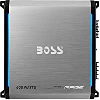 BOSS AUDIO RGT600 Rage 600-Watt Full Range, Class A/B 2 to 8 Ohm Stable 2 Channel Amplifier with Remote Subwoofer Level Control
