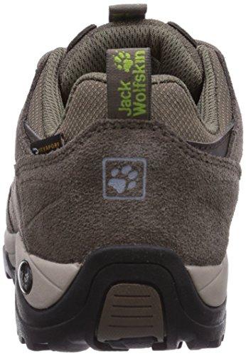 Vojo Rise Senderismo Texapore Green Low para Parrot Zapatos Wolfskin Jack Mujer de Hike Women 58ppqw